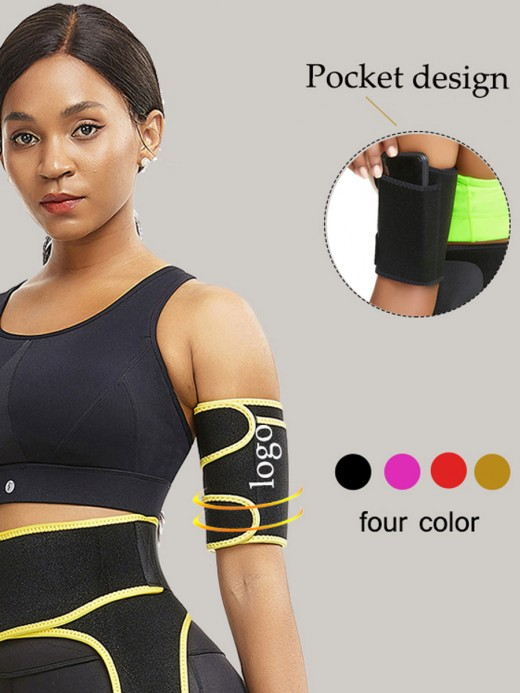 Black 2 Pieces Repel Sweat Neoprene Arm Shaper High Quality
