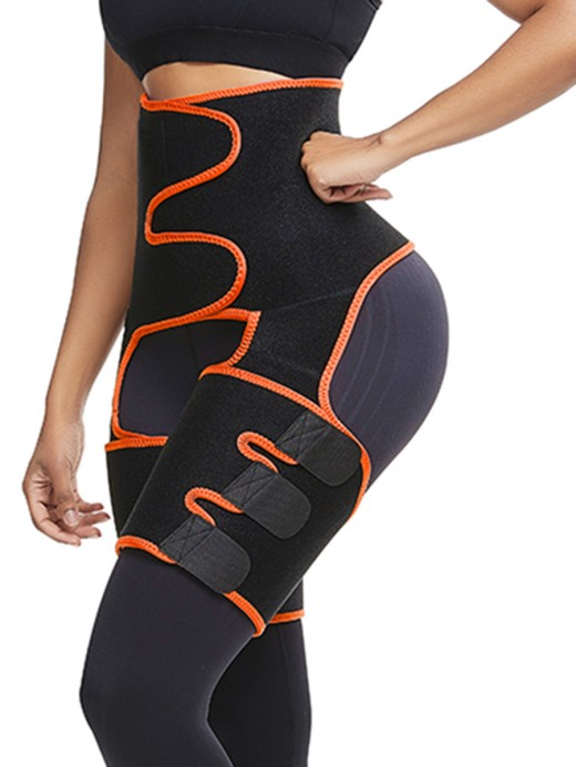 Light Control Orange Sticker High Waist Neoprene Thigh Trainer Garment