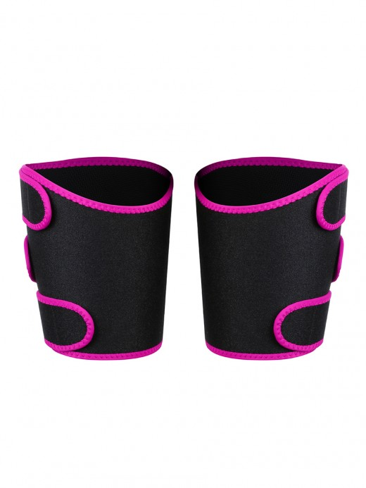 Sophisticated Rose Red Neoprene 2 Pcs Thigh Trimmers Adjust Bandage