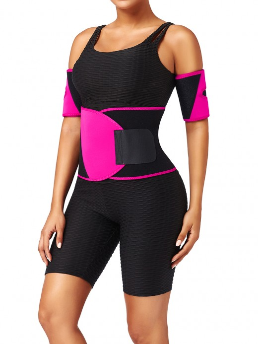 Rose Red Plus Size Neoprene Embossed Waist Trainer Fat Burning (Waist Trainer Only)
