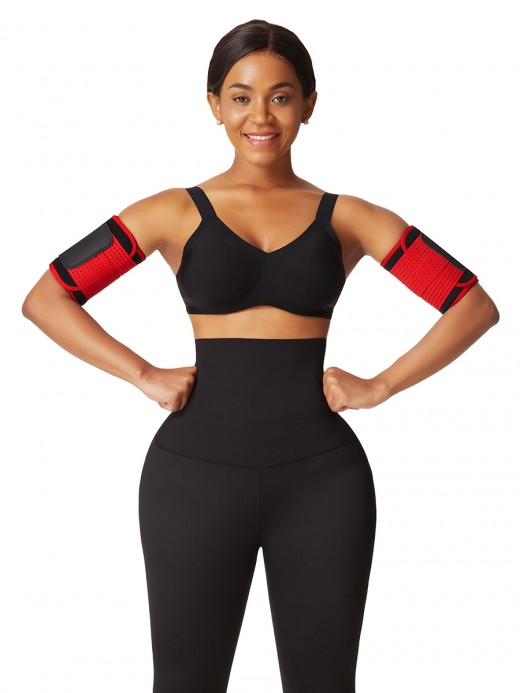Red Neoprene Arm Shaper With Elastic Bands Curve Shaping