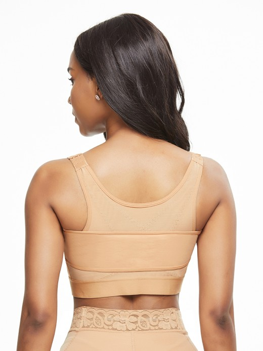 Stretchy Skin Color Solid Color Shapewear Bar Large Size Sensual Curves
