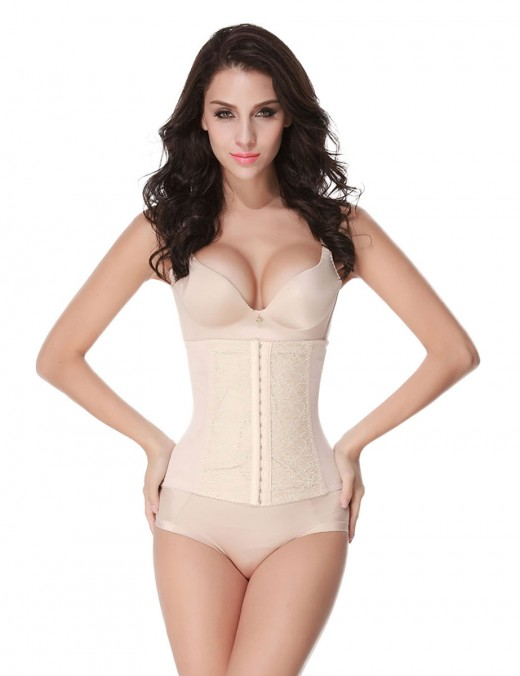 Shaping Lace Large Size 9 Steel Boned Hourglass Waist Trainer