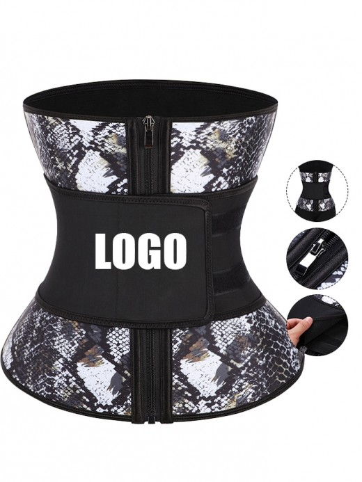7 Steel Boned Snake Big Size Latex Waist Trainer Custom Logo