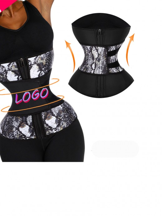 Powerful Belt Snake Zipper Big Size Waist Cincher Workout