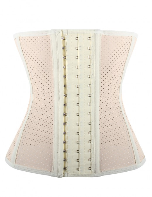 Beige Plus Size 9 Bones Latex Hourglass Waist Cincher