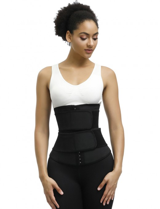 Comfortable Black Plus Size Latex Waist Trainer 7 Steel Bones Best Selling