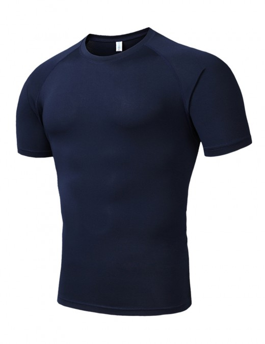 Flawlessly Blue Athletic Shirts Moisture Wicking Plain Male