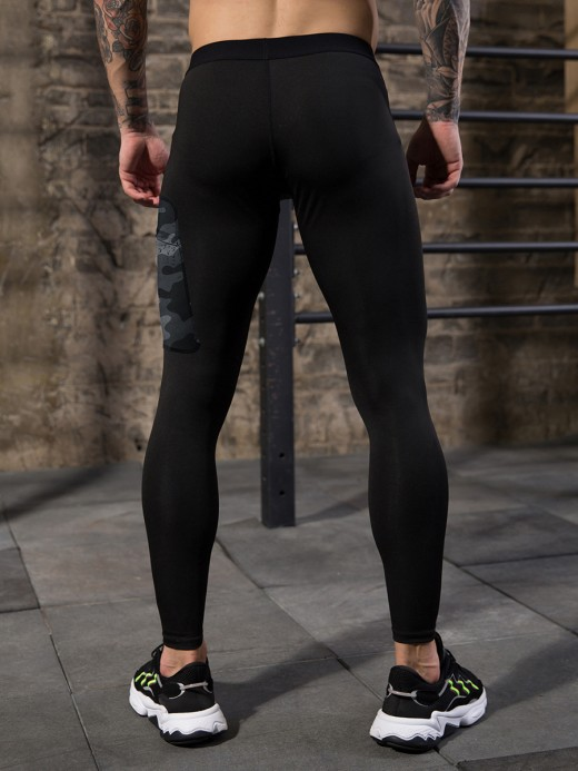 Simply Chic Black Camo Print Pocket High Rise Leggings Best Workout