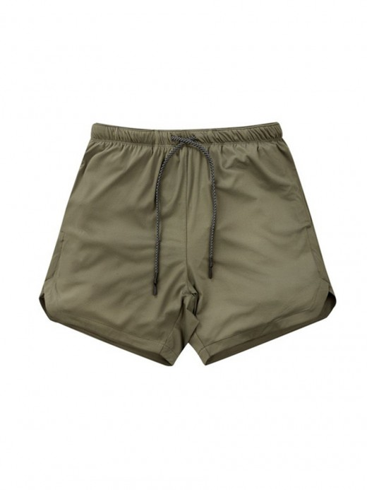 Delightful Green Sports Shorts Side Pockets Drawstring Quality Assured