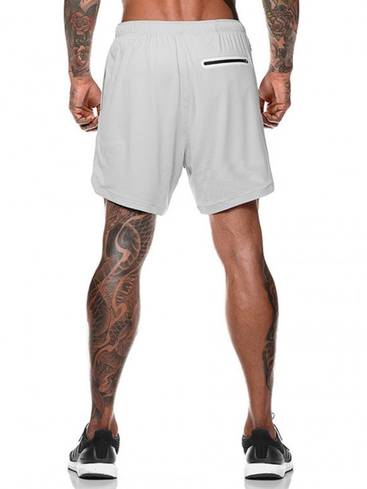 Incredible Gray Pockets High Rise Training Shorts For Hanging Out