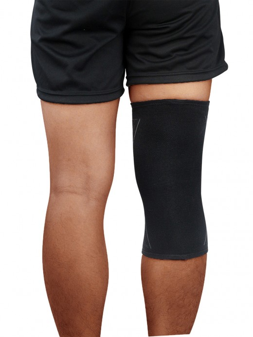 Athletic Gray Knee Sleeve Kneepad Antiskid Strip For Workout