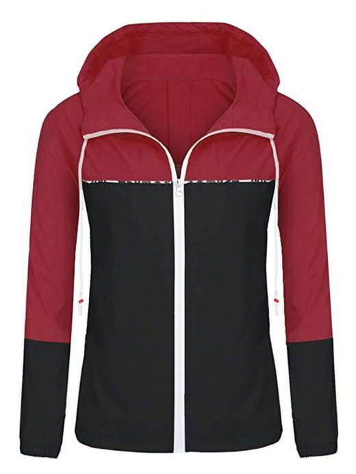 Scintillating Black Drawstring Hoodie Baseball Uniform For Female Runner