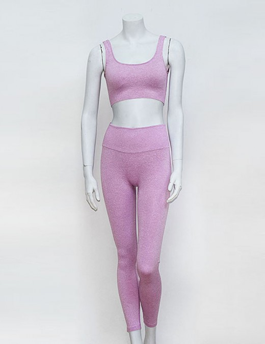 Incredibly Purple Solid Color Square Neck Sweat Suit Best Workout