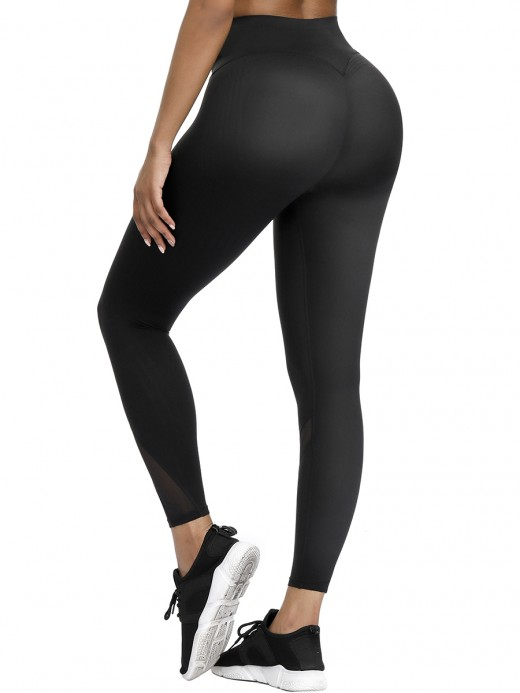 Ultra Stretchy Black High Waist 3D Print Yoga Pants Women's Clothes