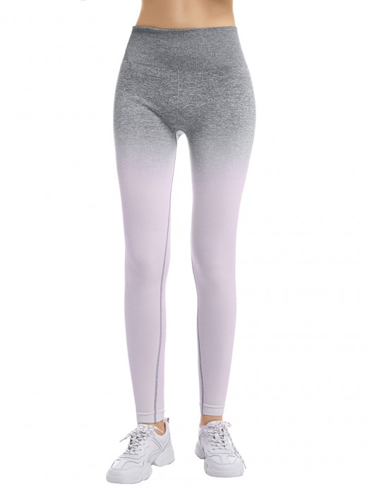 Ultra-Skinny Ankle Length Gradient Sports Leggings Best Materials