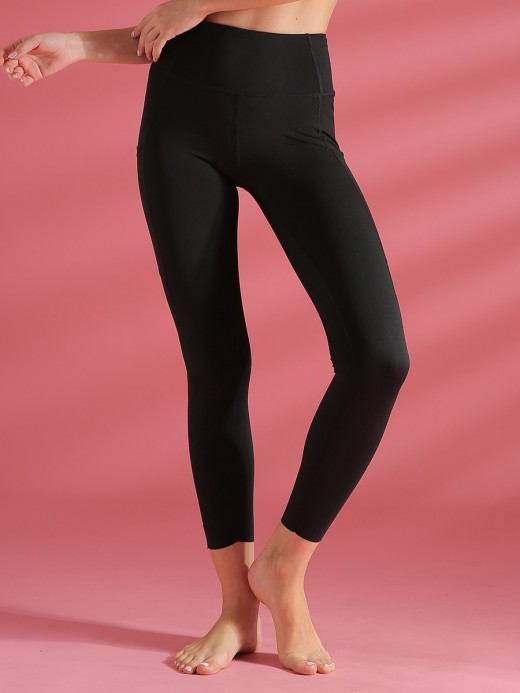 Exotic Paradise Black Yoga Pants With Pockets High Waist Ultra Hot