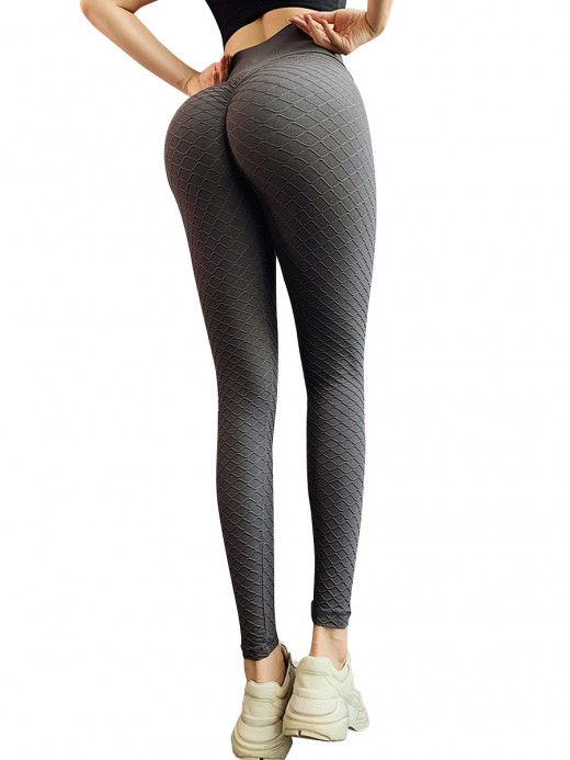 Simply Chic Gray Full Length Yoga Legging Solid Color