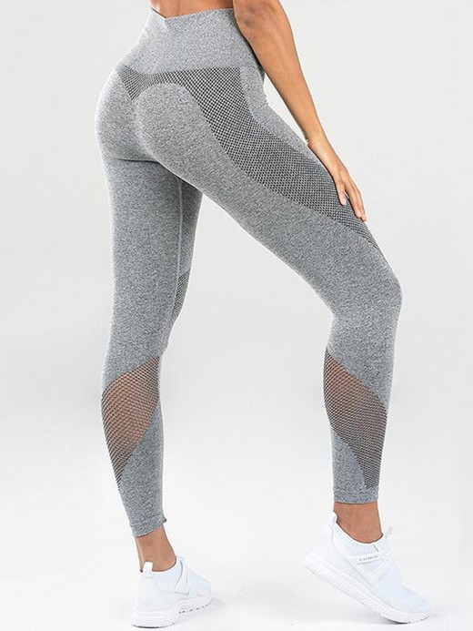 Conservative Gray 7/8 Length Tummy Control Yoga Pants Glamor