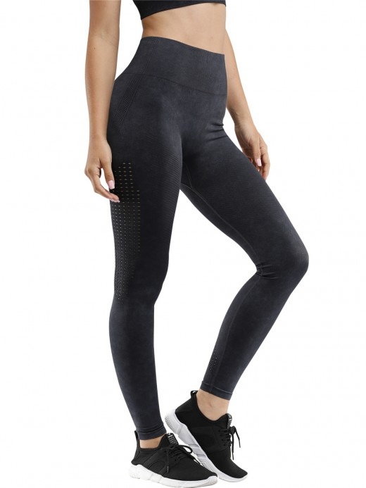 Gymnastic Black Seamless Athletic Legging High Rise Female