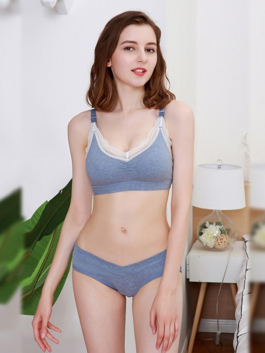 Mystical Wireless Lace Nursing Bra 3 Pack Slim Ladies
