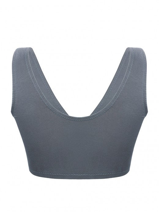 Dark Gray Nursing Bra U-Shaped Back Wide Strap Modern Fit All Over