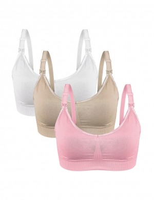 Open Front Nursing Bras 3 Pack